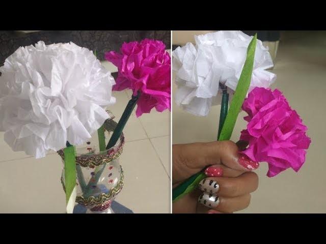 DIY Paper Craft || How To Make Round Tissue paper Flower????
