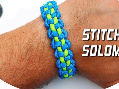 DIY Paracord Bracelet Stitched Solomon Bar World of Paracord How to make paracord Bracelet by TIAT