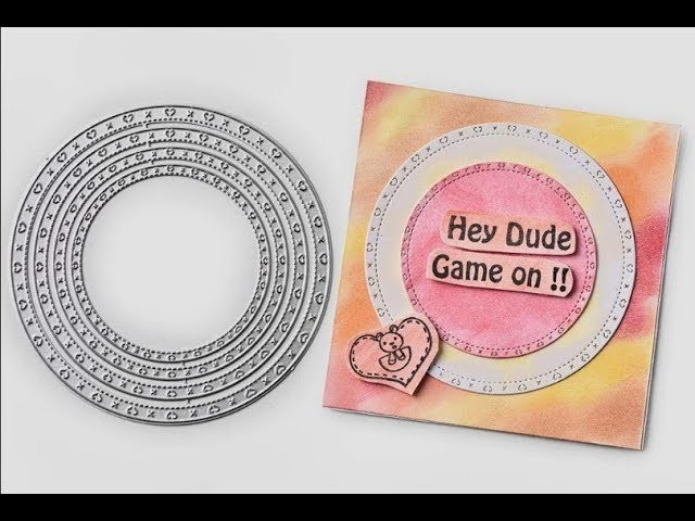 DIY Simple Square Greeting Card Making Process&InLoveartshop Cutting dies and stamps Use
