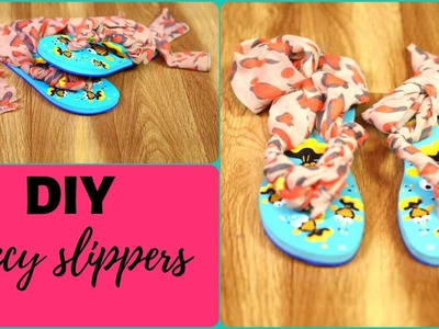 #diy #simplediy   FANCY SLIPPER DIY    Easy and quick diy   Make old slippers new with old fabric????
