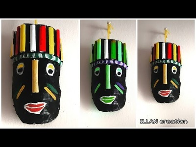 DIY Tribal Mask from Plastic Bottle | Craft from waste | Illan Creation