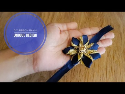DIY Unique Handmade Ribbon Rakhi Designs|Rakhi making ideas for School Competition|Quicky Crafts