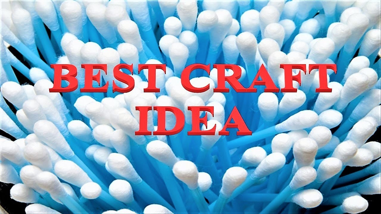 Earbud Craft Idea || Beautiful Flower Plant || Wall hanging || Craft for School Project