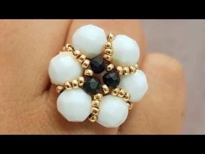 Flower Crystal Ring Tutorial