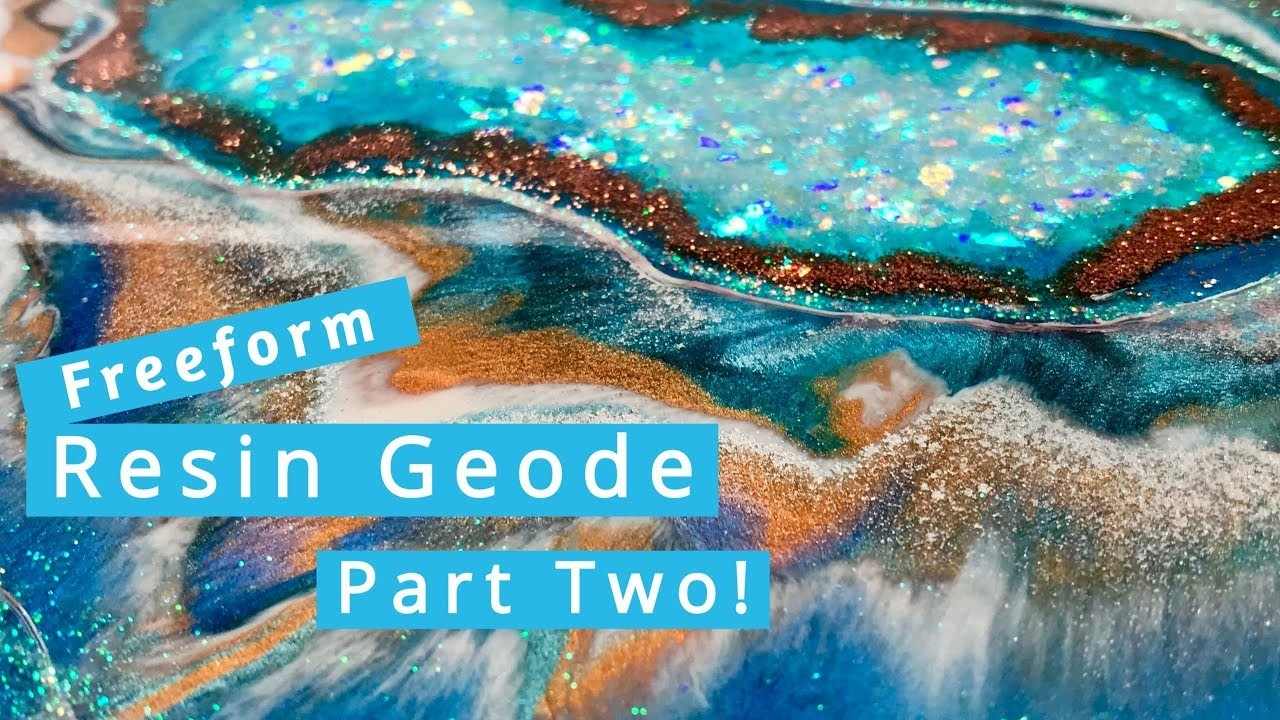 Freeform Resin Geode Tutorial Using Silicone - Part TWO!