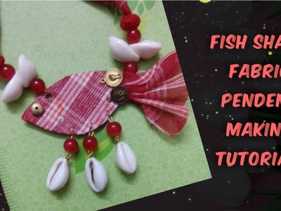 Gamocha fish pendant making tutorial.Fabric necklace with kori