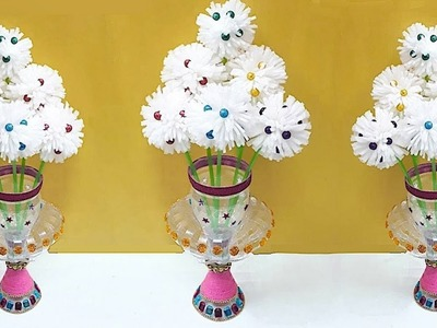 Guldasta made from plastic bottle and foam flower at home| Best out of waste Guldasta