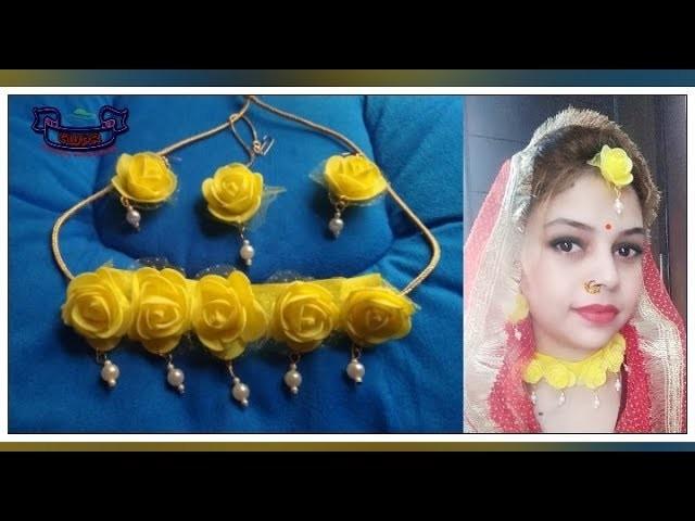 #HaldinMehndiCeremony Tutorial-Jwewelleryet for Haldi n Mehndi ceremony ll wedding season ll Part -6
