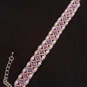 Handmade White Pearl Diamond Shape Bracelet