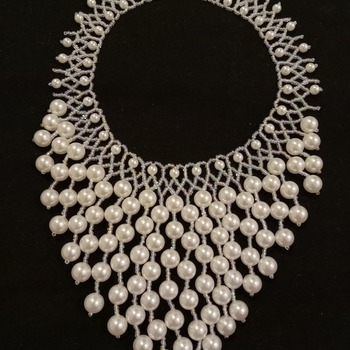 Handmade White Pearl Elegant Necklace