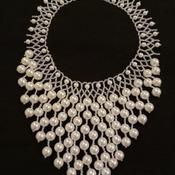 Handmade White Pearl Elegant Necklace