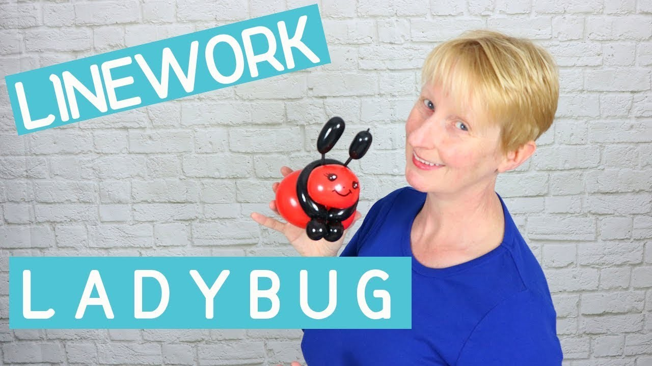 How to make a quick balloon ladybug - balloon animal tutorial