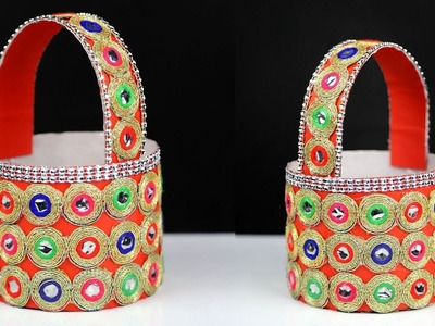 How to make bottle basket | best out of waste water bottle craft | diy easter basket