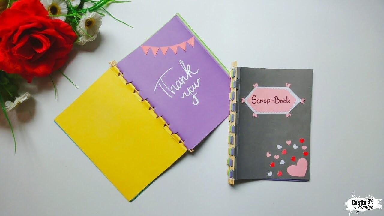 How to make Scrapbook with Sticks | Bamboo stick Scrapbook tutorial | DIY craft