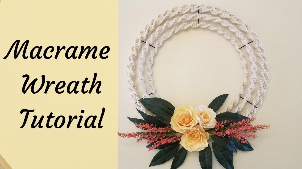 Macrame Spiral Knot Wreath Tutorial