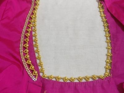 Neck border with beads(kannada version)