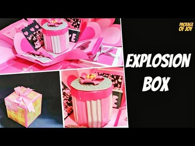 PINK EXPLOSION BOX IDEAS   DIY GIFT   DIY EXPLOSION BOX IDEAS   PINK EXPLOSION BOX FOR BIRTHDAY