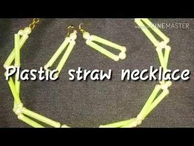 Plastic straw necklace (new design)
