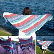 Cape Cod Summer Shawl Wrap Knitting Pattern