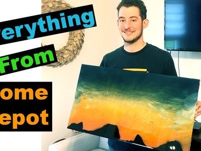 Sunset and Mountains Epoxy Wood Art ||DIY ||#CheapSkateChallenge