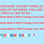 Crafts Make A Wish Cottage Cross Stitch Pattern***LOOK***Buyers Can Download Your Pattern As Soon As They Complete The Purchase