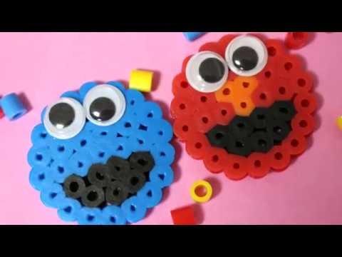 """パーラービーズ「セサミストリート」作り方 """"Sesame Street"""" Perler Beads"""