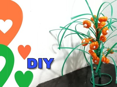 Tricolor Showpiece made with plastic wire | Craft India | DIY