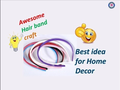 #Wallhangings#diyroomdecor||Best out of waste Hair band craft idea||Art&craft||ssartscrafts