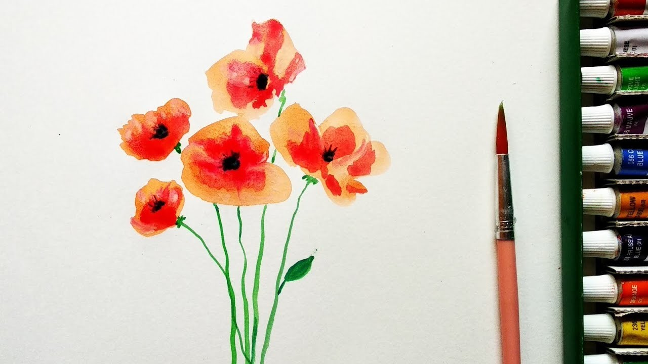 Water colour painting tutorial