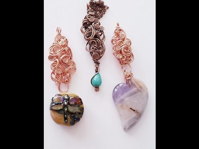 Wire Wrap Tutorial ~ Freeform Necklace Connector for Lampwork and difficult beads – 25a