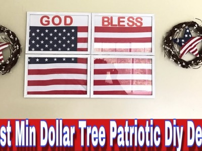 8 DOLLAR TREE PATRIOTIC DIY DECOR| EASY & BUDGET FRIENDLY DECOR FOR JULY 4th| MARIE'S DIY