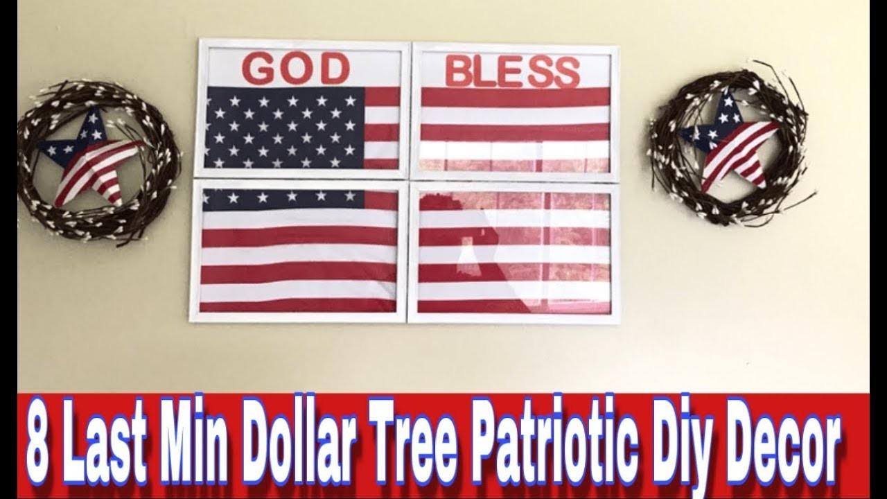 8 DOLLAR TREE PATRIOTIC DIY DECOR| EASY & BUDGET FRIENDLY DECOR FOR JULY 4th| MARIE'S DIY