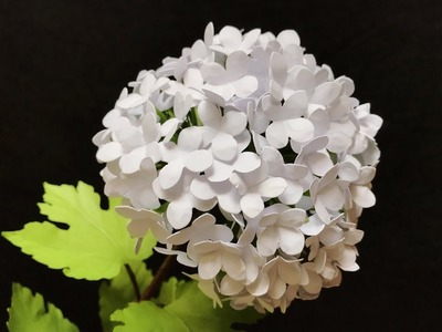 ABC TV |  How To Make Snowball Viburnum Paper Flower - Craft Tutorial