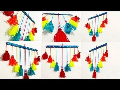 Amazing!! Woolen Craft idea | How To Make Woolen Door.Wall Hanging Toran at Home | Creative Diaries