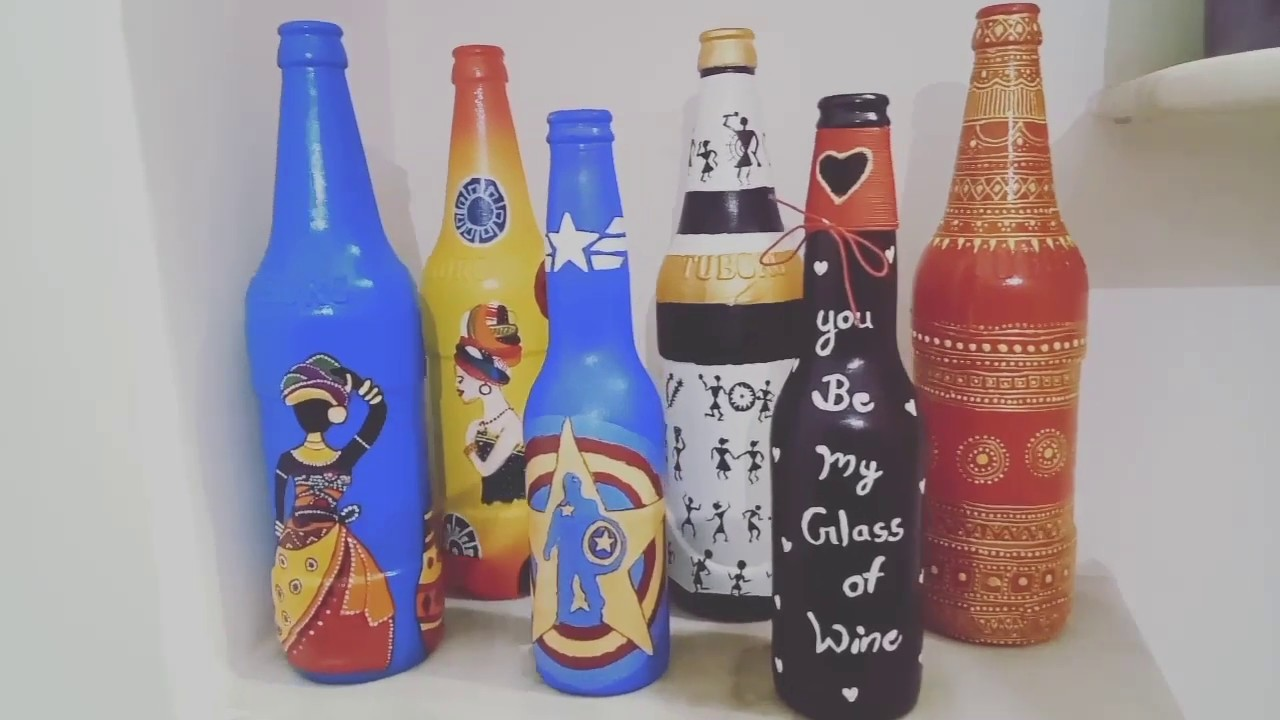 Art and craft from bottle