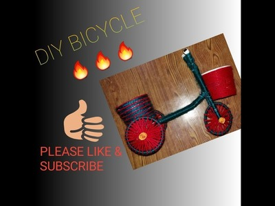 ART & CRAFT DIY CYCLE BEST OUT OF WASTE
