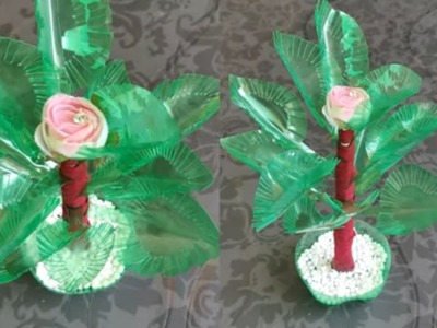 AWESOME DIYS FROM PLASTIC BOTTLES \ BEAUTIFUL PLASTIC BOTTLE CRAFT MAKING TREE AND FLOWER POT ||