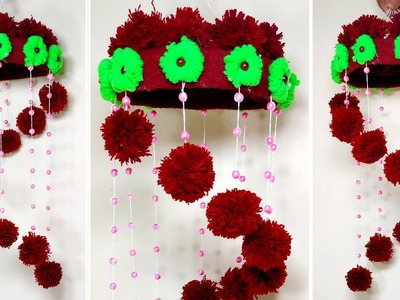Beautiful Woolen Craft!! Woolen Thread Wall Hanging Idea | Decoration | Jarine's Crafty Creation
