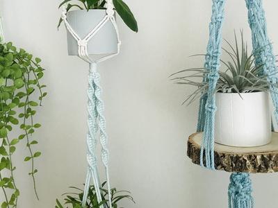 [Blue series] DIY Macrame plant hanger #9. 마크라메 플랜트행거 #9