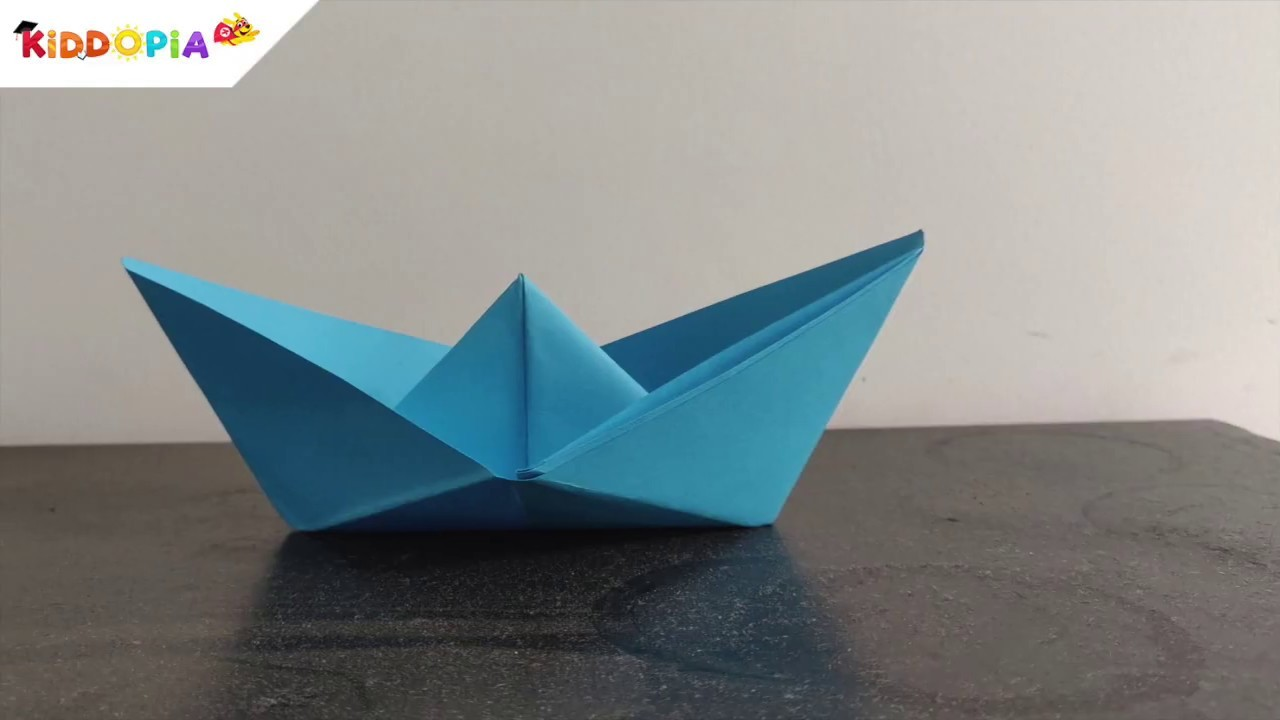 Boat Origami Craft - For Kids