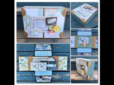 Country Craft Creations DT: Simple Stories Simple Vintage Traveler Boxed Gatefold Album WalkThru