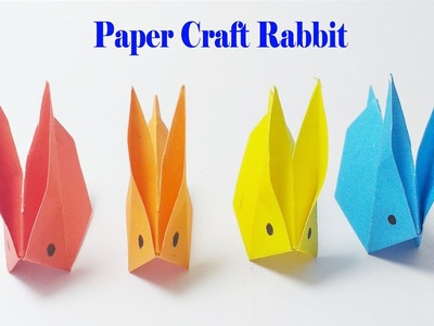 Craft paper one minute rabbit for kids 2019 | Easy way to make paper craft | Rabbit instructions