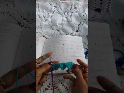 Crochet:  peacock doily body part 1.2 , crocodile stitch