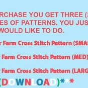 CRAFTS Deer Farm Cross Stitch Pattern***LOOK***Buyers Can Download Your Pattern As Soon As They Complete The Purchase
