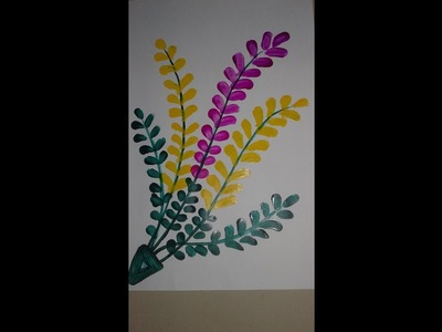 DIY art   Easy flower painting   Finger painting tutorial for kids, children   Acrylic painting