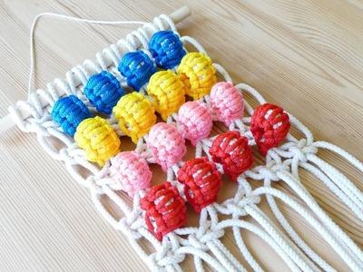 DIY Berry Knot Pom Pom Wall Hanging | Easy Crafts | Home Decor