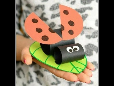 DIY Crafts for kids - Easy Paper Lady Bug !