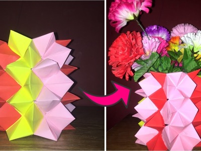 DIY Crafts: How To Make A DIY Paper Flower Vase | Home Decor | You Can DIY | Decoration Ideas