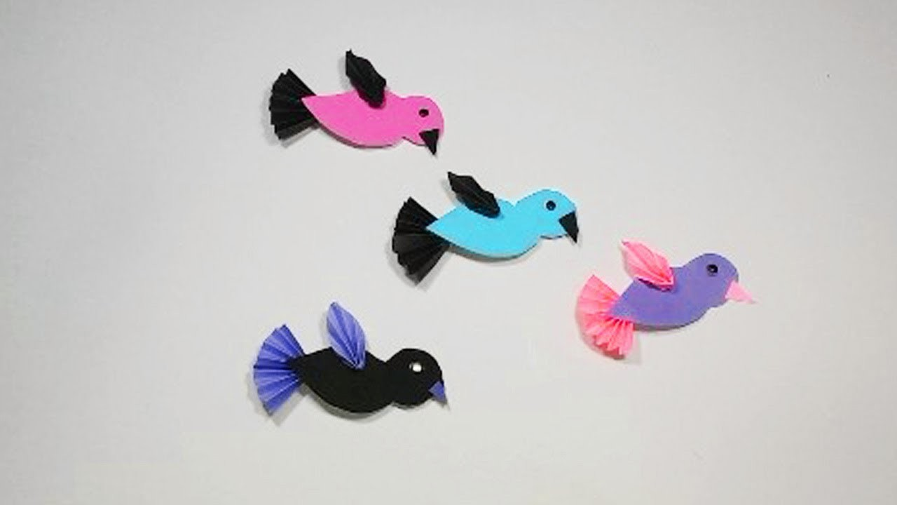 DIY : Easy Paper Craft Ideas For Kids || How to make paper Birds. . Chader Bari Crafts ||