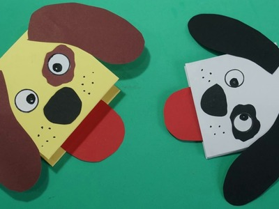 Diy easy paper Dog Hand Puppet craft ideas    Dog Hand Puppet Crafts For Kids
